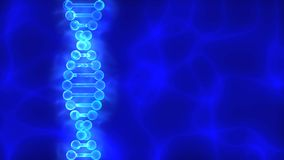 Blauer Hintergrund DNA (Desoxyribonukleinsäure) mit Wellen Lizenzfreies Stockfoto