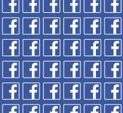 Blauer Hintergrund Facebooks mit Logomuster Sauberes Vektordesign Alle auf weißem Hintergrund