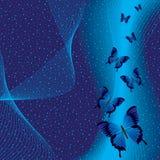 Blauer Hintergrund mit Basisrecheneinheit Lizenzfreies Stockbild