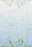 Blauer Hintergrund mit Blumen Lizenzfreies Stockbild