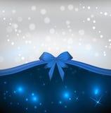 Blauer Hintergrund mit Bogen lizenzfreie abbildung