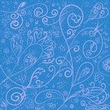 Blauer Hintergrund mit einem leichten Muster und einer Beschaffenheit Stockfotografie