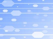 Blauer Hintergrund mit Hexagonen Stockfotos