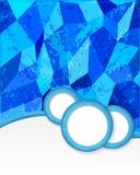 Blauer Hintergrund mit Kreisen in der Schmutzart. Stockfotos