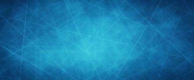 Blauer Hintergrund mit Netzkonzept der weißen Linien der Überfahrt oder Laserstrahlen mit dunkler Grenze und Beschaffenheit vektor abbildung