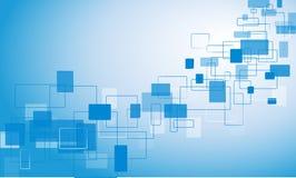 blauer Hintergrund mit Rechtecken Lizenzfreies Stockfoto