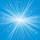 Blauer Hintergrund mit Sternen Lizenzfreie Stockbilder