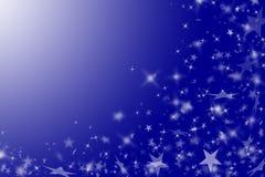 Blauer Hintergrund mit Sternen. Lizenzfreies Stockfoto