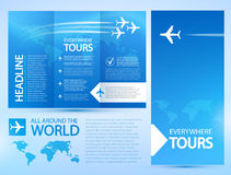 Blauer Hintergrund mit weißen Flugzeugen Lizenzfreie Stockbilder