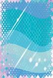 Blauer Hintergrund mit Wellen Lizenzfreie Stockfotos