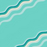 Blauer Hintergrund und Rahmen mit Wellen Lizenzfreie Stockfotografie