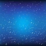 Blauer Hintergrund und Sterne lizenzfreie abbildung