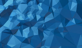 Blauer Hintergrund von Dreiecken Lizenzfreie Abbildung