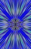 Blauer Hintergrund von Farbstreifen läuft von der Mitte zu den Rändern auseinander Lizenzfreie Stockfotos
