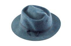 Blauer Hut des Mannes Stockfotografie