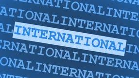 Blauer internationaler Hintergrund Lizenzfreie Stockfotografie