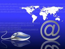 Blauer Internet-Hintergrund Stockbild