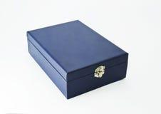 Blauer jewelery Kasten lizenzfreies stockbild