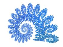 Blauer Künste Fractal stock abbildung