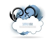 Blauer künstlerischer florel Hintergrund mit grunge Lizenzfreie Stockfotos