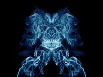 Blauer künstlerischer Rauch Lizenzfreie Stockbilder