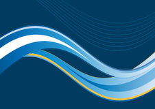 Blauer künstlerischer Wellenhintergrund Stockfotografie