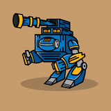 Blauer Kanonen-Roboter Lizenzfreie Stockbilder