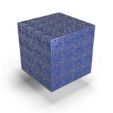 Blauer Kasten Stockfoto