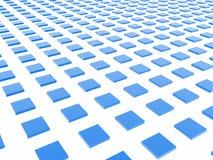 Blauer Kasten-Rasterfeld Stockbild