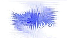 Blauer Klecks auf weißem Hintergrund Lizenzfreie Stockfotos