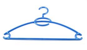 Blauer Kleiderbügel Lizenzfreie Stockfotos