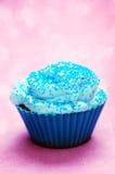 Blauer kleiner Kuchen Stockbild