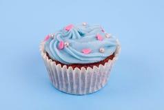 Blauer kleiner Kuchen Stockfotografie