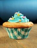 Blauer kleiner Kuchen Stockbilder