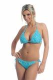 Blauer Knit-Bikini Lizenzfreies Stockfoto