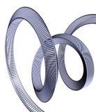 Blauer Knoten stock abbildung