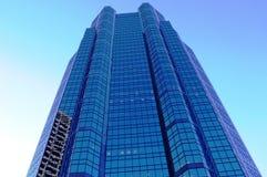 Blauer Kontrollturm Stockfoto