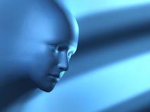 Blauer Kopf vektor abbildung