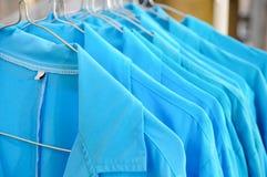 Blauer Kragen-Jacken Lizenzfreie Stockfotografie