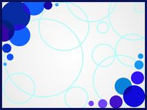 Blauer Kreis Stockfotografie