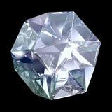 Blauer Kristall Stockbild