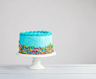 Blauer Kuchen Lizenzfreies Stockbild