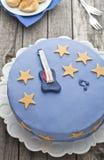 Blauer Kuchen der Gitarre Stockfotos