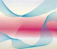 Blauer Kurvenhintergrund Stockbild