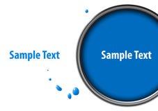 Blauer Lack kann mit Tropfen lizenzfreie abbildung