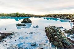 Blauer Lagunenbereich nahe Reykjavik, Island lizenzfreies stockfoto