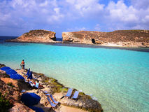 Blauer Lagunenstrand Stockfotos