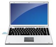 Blauer Laptop Stockbild