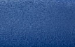 Blauer lederner Hintergrund Stockfoto