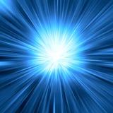 Blauer Leuchteimpuls Stockfoto
